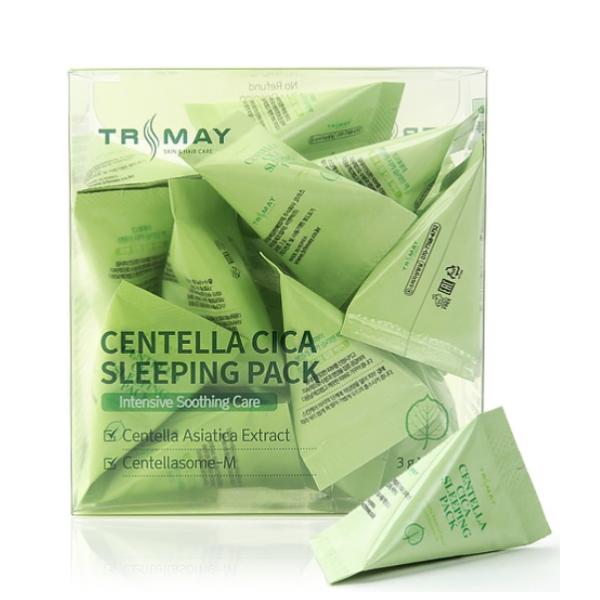 Маска ночная успокаивающая с экстрактом центеллы Trimay Centella Cica Sleeping Pack 3ml 0 - Фото 1