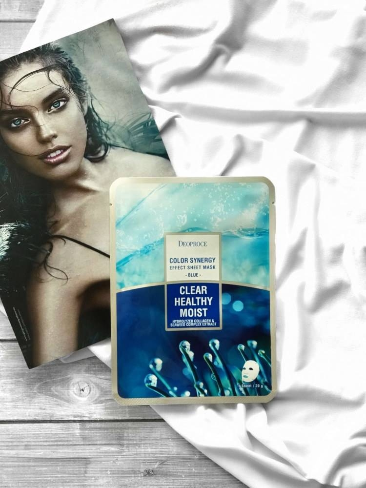 Маска Омолаживающая С Морским Коллагеном Deoproce Color Synenergy Efect Sheet Mask Blue