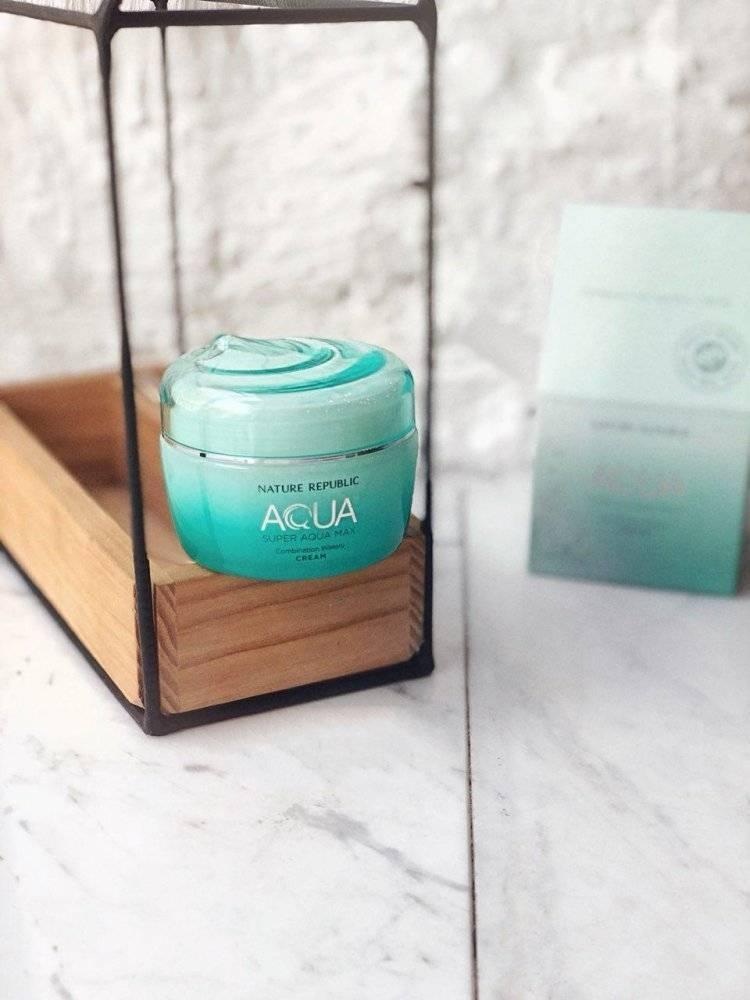Крем Увлажняющий Для Комбинированной И Жирной Кожи Nature Republic Super Aqua Max Combination Watery Cream 80ml 0 - Фото 1
