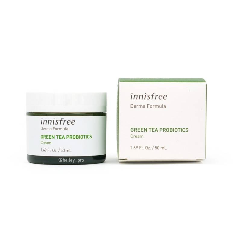 Крем Увлажняющий С Пробиотиками Зеленого Чая Innisfree Derma Formula Green Tea Probiotics Cream 50ml
