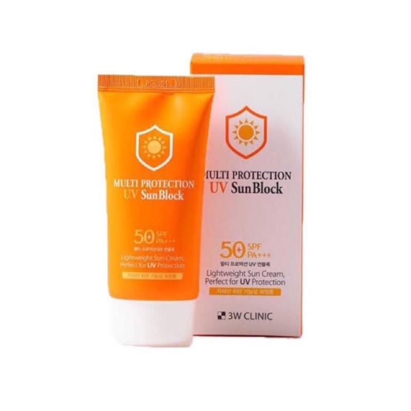 Солнцезащитный крем увлажняющий 3W Clinic Multi Protection UV Sun Block SPF50+ PA +++ 70ml 2 - Фото 2