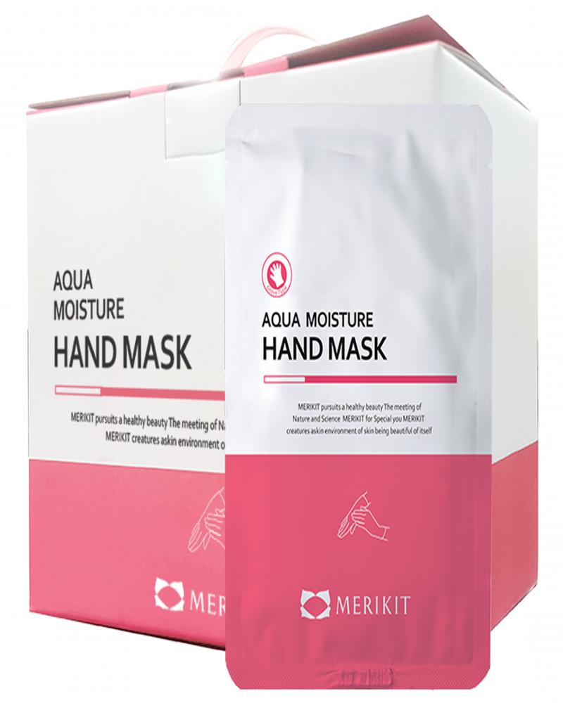 Маска-перчатки для рук увлажняющая с маслом ши Merikit Aqua Moisture Hand Mask 16ml 0 - Фото 1