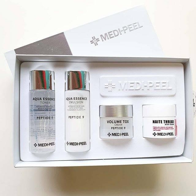 Набор: Тонер, Эмульсия, Крем Для Лица И Крем Для Шеи С Комплексом Пептидов Medi-Peel Peptide 9 Skincare Trial Kit 80 мл 1 - Фото 2