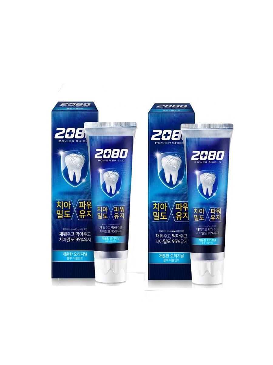 Зубная паста укрепляющая с экстрактом мяты 2080  Power Shield Blue Double Mint 120ml  0 - Фото 1