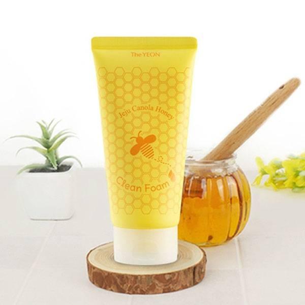 Пенка Очищающая Для Укрепления Кожи С Рапсовым Мёдом The YEON Jeju Canola Honey Clean Foam 150ml
