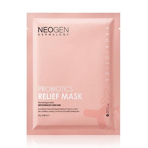 Успокаиваяющая тканевая маска с пробиотиками и ягодными экстрактами Neogen Probiotics Relief Mask 25g 2 - Фото 2