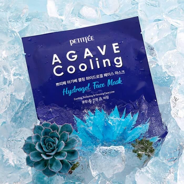 Маска Гидрогелевая Освежающая Увлажняющая С Экстрактом Агавы Petitfee  Agave Cooling Hydrogel Face Mask