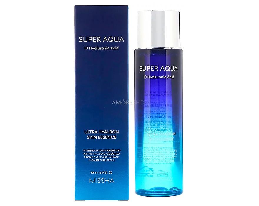 Эссенция увлажняющая с гиалуроновой кислотой Missha Super Aqua Ultra Hyalron Skin Essence 200 ml 0 - Фото 1