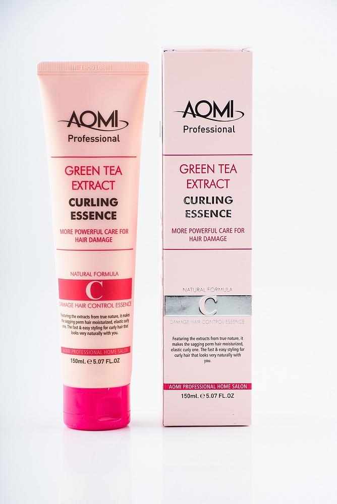 Эссенция с эффектом стайлинга для кудрявых волос Aomi Green Tea Extract Curling Essence 150ml 2 - Фото 2