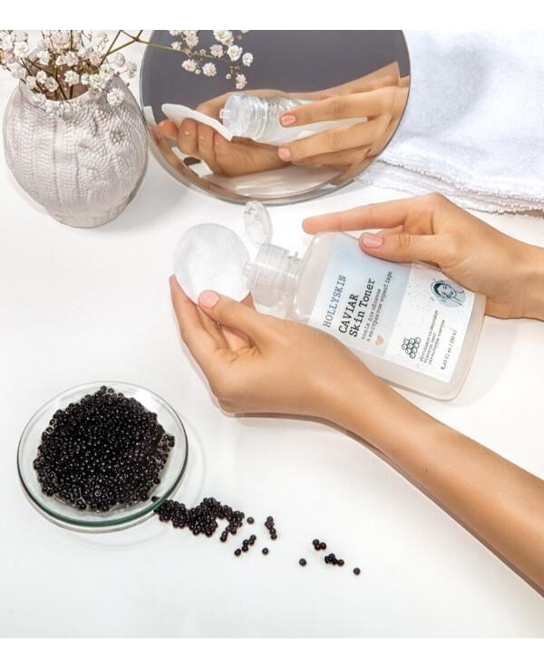 Тонер для лица с экстрактом черной икры Hollyskin Caviar Skin Toner 250ml 2 - Фото 2