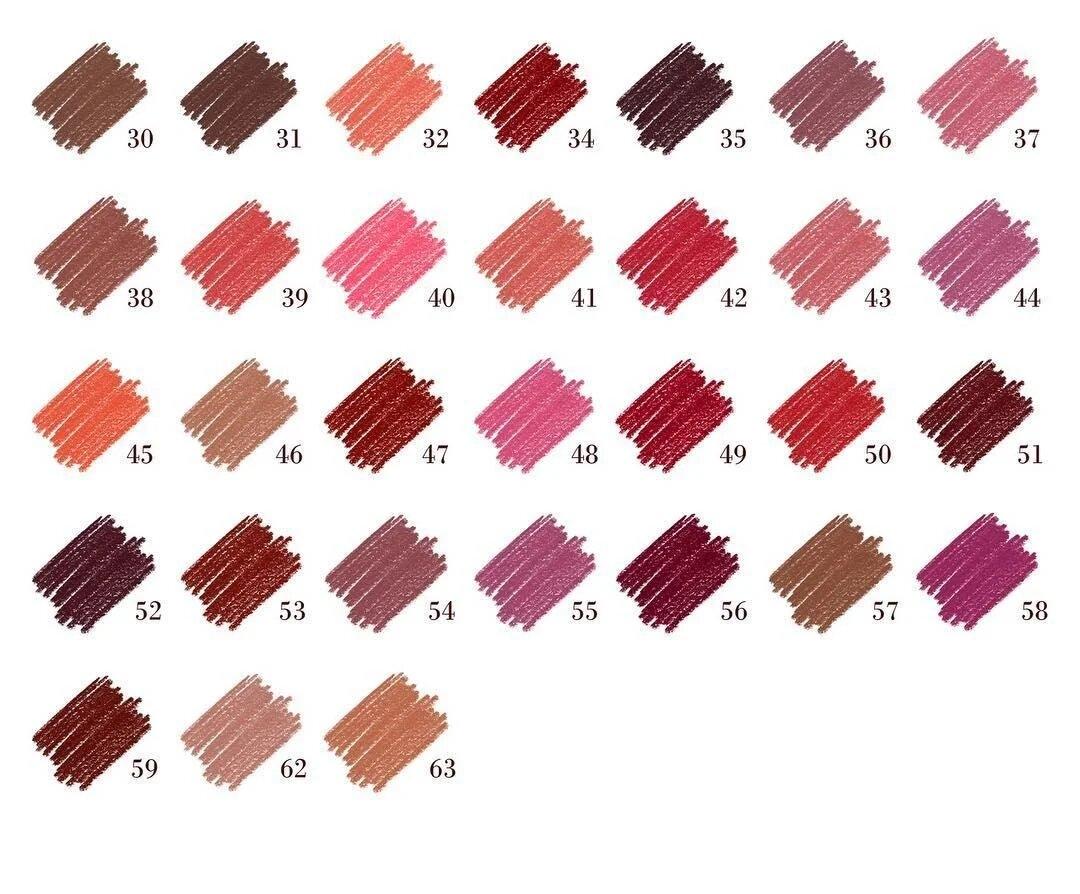 Карандаш для контура губ Aden Cosmetics 1.14 gr № №: 36, 37, 38, 39, 40, 41, 41 2 - Фото 2
