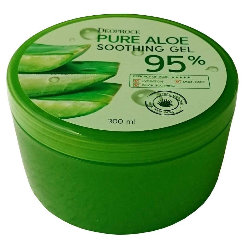 Гель Алое Универсальный Увлажняющий Deoproce Pure Aloe Soothing Gel 95% 300 ml 0 - Фото 1