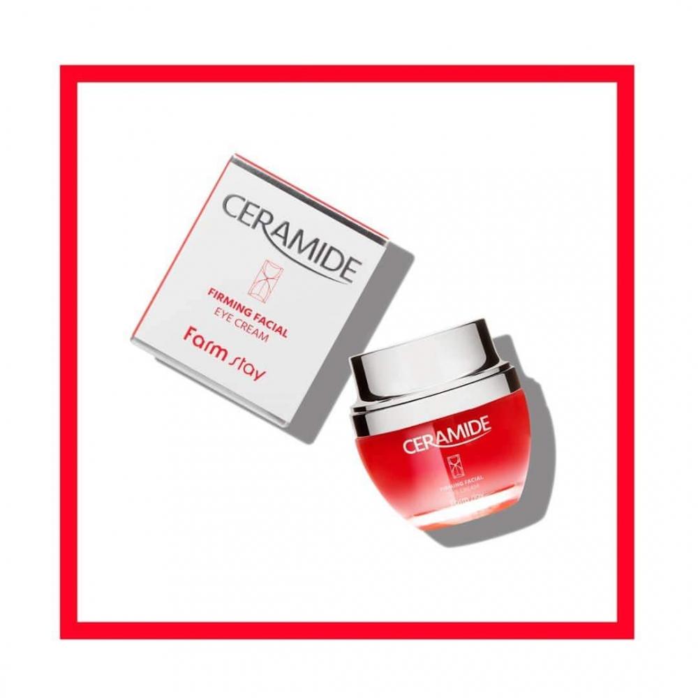 Крем для век восстанавливающий и укрепляющий кожу с керамидами FarmStay Ceramide Firming Facial Eye Cream 50ml 1 - Фото 2