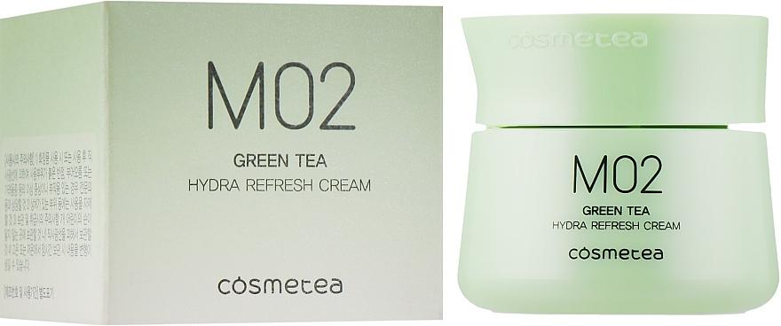 Крем для лица с экстрактом зеленого чая с освежающим эффектом Green Tea, Hydra Refresh Cream Cosmetea 10ml 0 - Фото 1