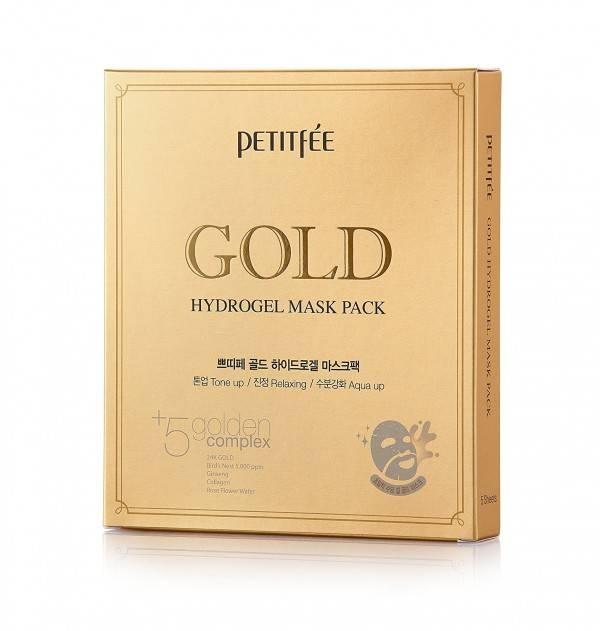 Гидрогелевая Маска Увлажнение И Восстановление С Коллоидным Золотом Petitfee GOLD Hydrogel Mask Pack 1шт 1 - Фото 2