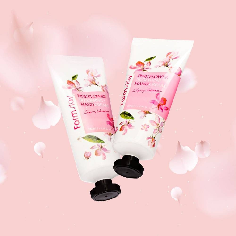 Крем для рук интенсивно увлажняющий с экстрактом цветов вишни FarmStay Pink Flower Blooming Hand Cream Cherry Blossom 100ml 1 - Фото 2