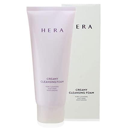 Люксовая пенка для умывания кремовая с экстрактом мяты Hera Creamy Cleansing Foam 50ml 1 - Фото 2