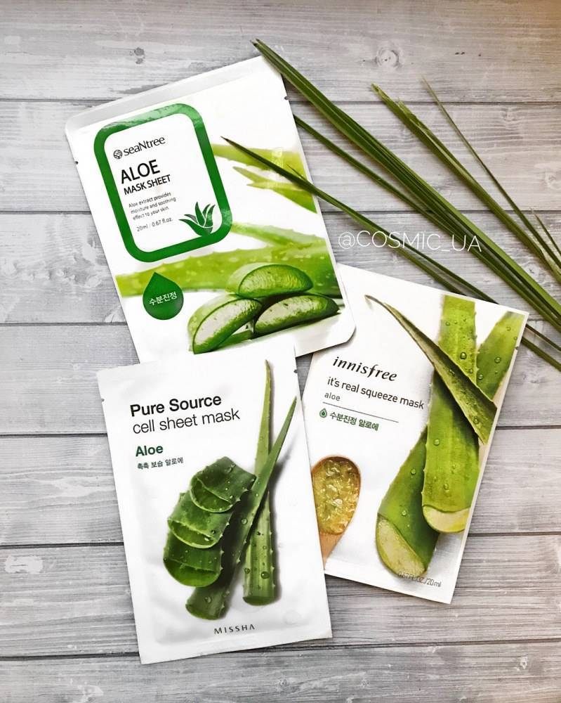 Тканевая Маска С Экстрактом Алое SeaNtree Aloe Mask Sheet  20ml 0