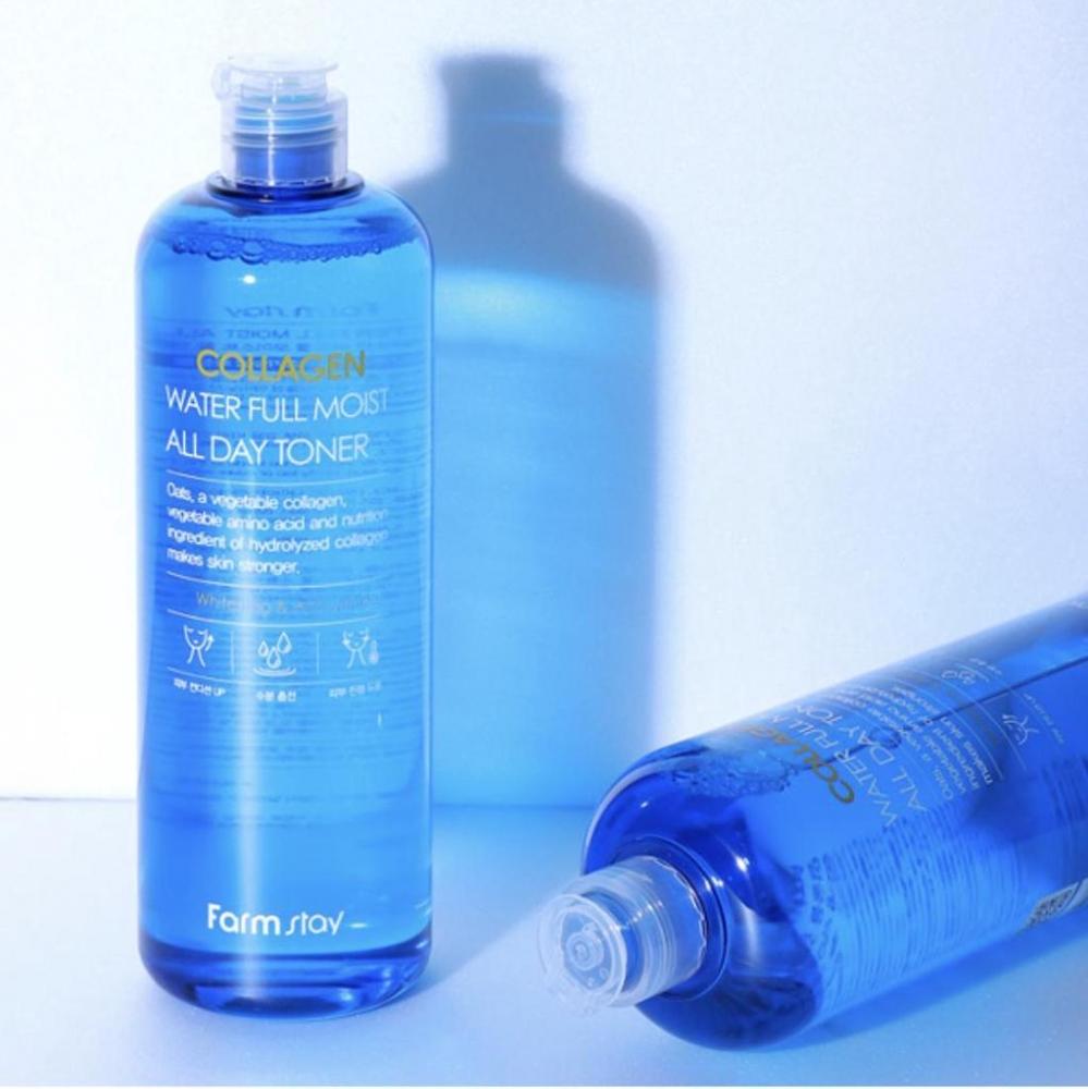 Тонер коллагеновый для ежедневного увлажнения кожи FarmStay Collagen Water Full Moist All Day Toner 500ml