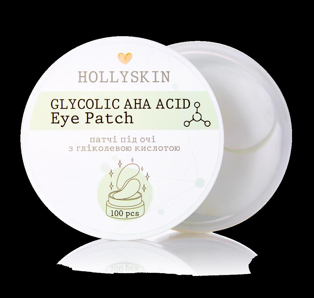 Патчи с гликолевой кислотой для глаз Hollyskin Glycolic AHA Acid Eye Patch 100pcs 2 - Фото 2