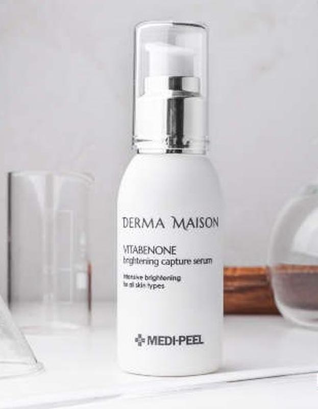 Мультивитаминная осветляющая сыворотка с идебеноном Medi-Peel Derma Maison Derma Maison Vitabenone Brightning Serum 50ml 2 - Фото 2