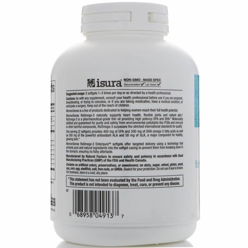 Пищевая Добавка Омега 3 Natural Factors WomenSense  RxOmega-3 120 капсул  2 - Фото 2