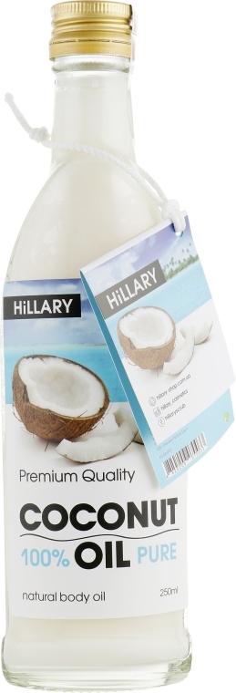 Масло рафинированное кокосовое универсальное Hillary 100% Pure Coconut Oil, 250ml 0 - Фото 1