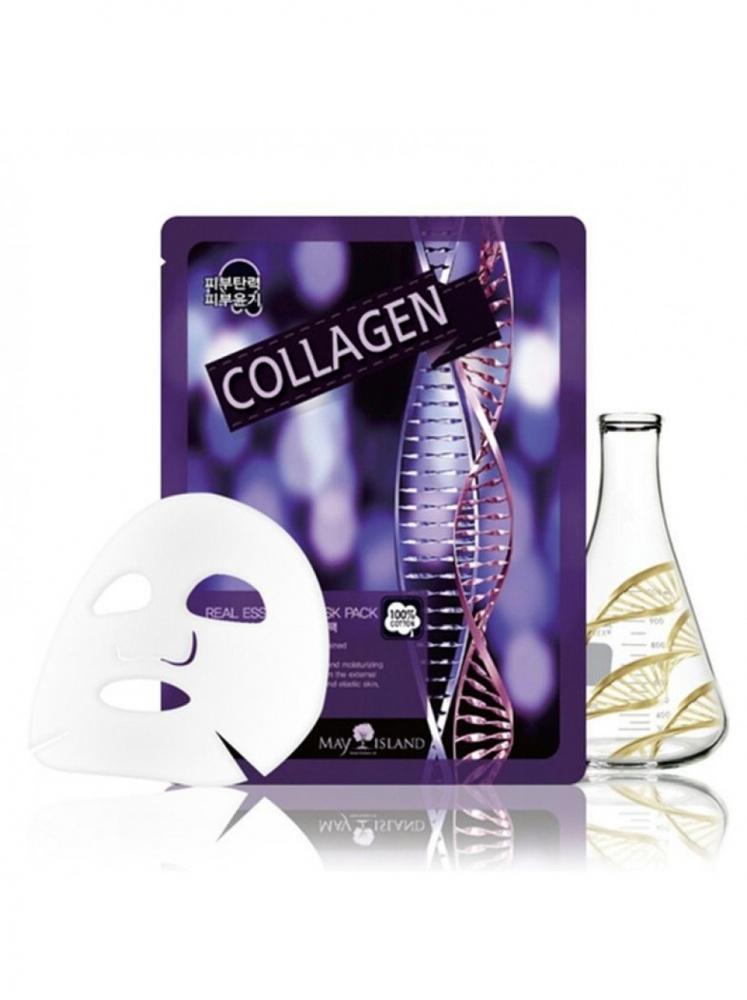 Маска тканевая с коллагеном для лица May Island Real Essense Collagen Mask Pack 25ml 0 - Фото 1