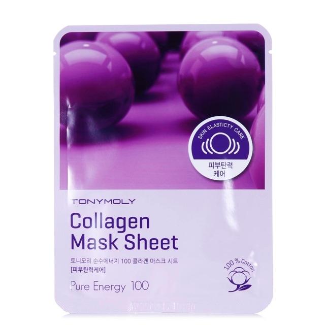 Омолаживающая коллагеновая тканевая маска для лица Tony Moly Pureness 100 Mask Sheet Collagen