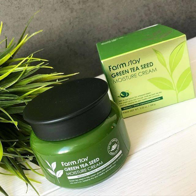 Крем оздоравливающий для глубокого увлажнения кожи с экстрактом зелёного чая FarmStay Green Tea Seed Moisture Cream 100ml 1 - Фото 2