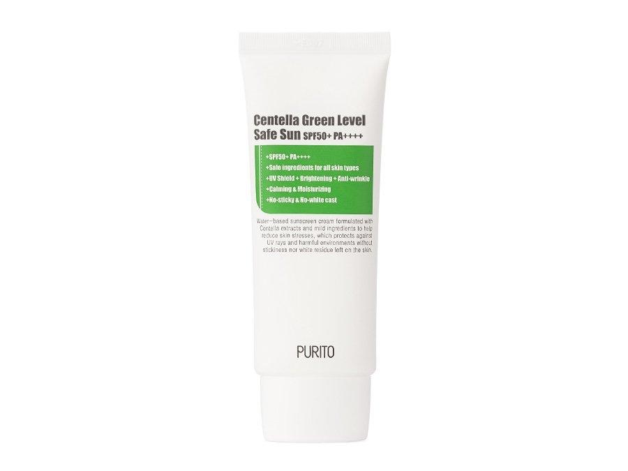 Солнцезащитный крем успокаивающий с экстрактом центеллы Purito Centella Green Level Safe Sun 50+PA++++ 60ml 2 - Фото 2