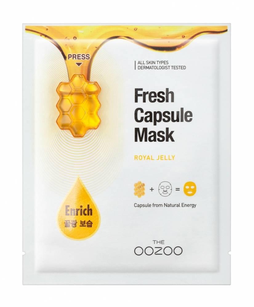 Маска Питательная С Маточным Молочком THE OOZOO Fresh Capsule Mask Royal Jelly
