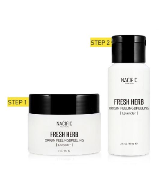 Набор премиальных средств для комплексного пилинга кожи лица Nacific Fresh Herb Origin Feeling & Peeling 60ml+60ml 2 - Фото 2
