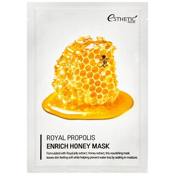 Тканевая маска питательная с маточным молочком, прополисом и медом Esthetic House Royal Propolis Enrich Honey Mask 25ml 0 - Фото 1