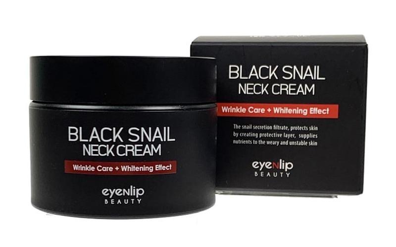 Крем увлажняющий с муцином улитки для шеи Eyenlip BLACK SNAIL NECK CREAM 50ml 0 - Фото 1