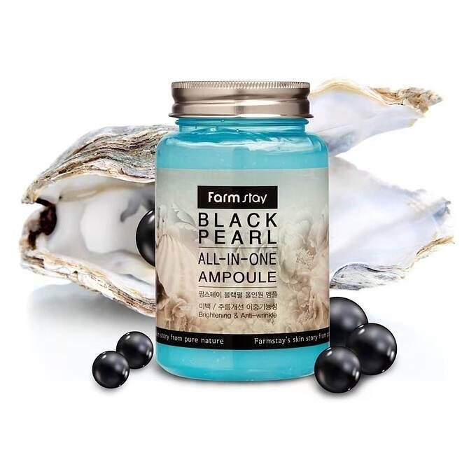 Сыворотка ампульная с экстрактом черного жемчуга для лица FarmStay Black Pearl All-in-one Ampoule 250ml 2 - Фото 2