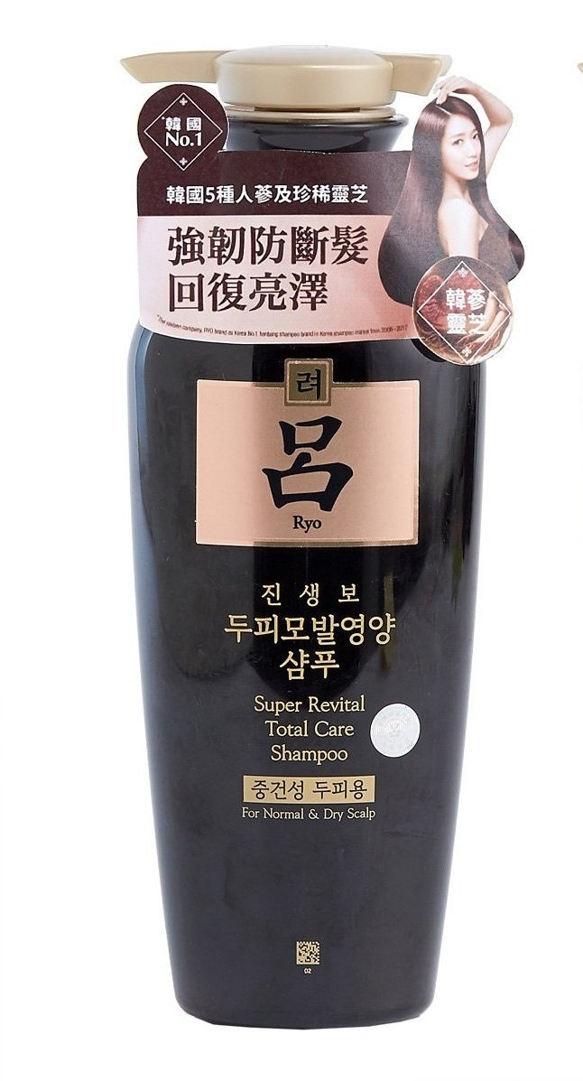 Шампунь восстанавливающий для волос Ryo SUPER Revital Total Care Shampoo For Normal & Dry Scalp 400ml 0 - Фото 1