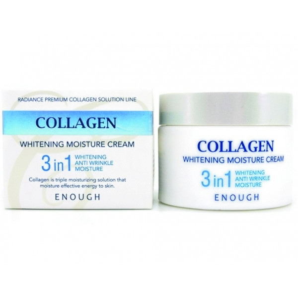 Крем осветляющий с ниацинамидом Enough Collagen Whitening Moisture Cream 3 in 1 (50 ml) 0 - Фото 1