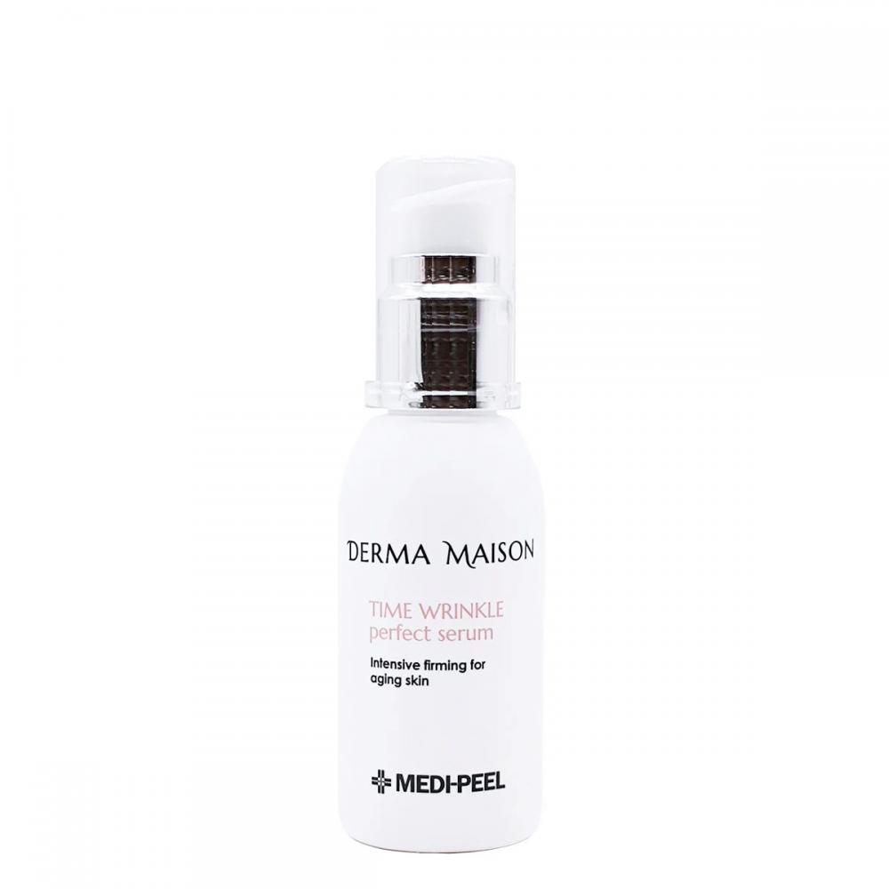 Омолаживающая сыворотка с коллагеном и гиалуроновой кислотой Medi-Peel Derma Maison Time Wrinkle Perfect Serum 50ml 2 - Фото 2