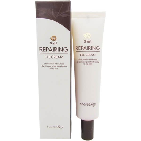 Увлажняющий крем для век с улиточным экстрактом и бета-глюканом SecretKey Snail Repairing Eye Cream 30g 0 - Фото 1