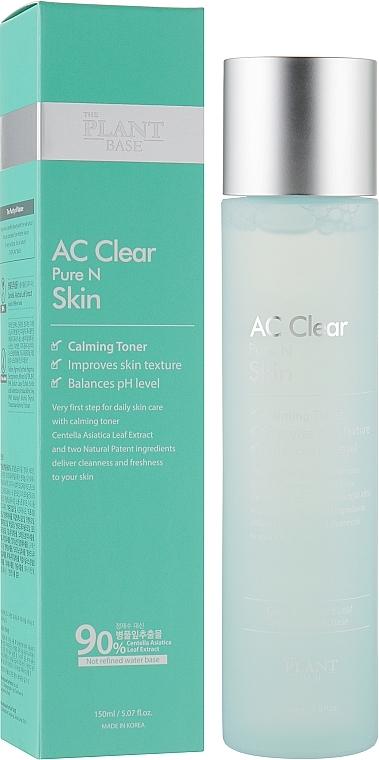 Тонер Успокаивающий С Экстрактом Центеллы Для Проблемной Кожи The Plant Base AC Clear Pure N Skin 150ml 0 - Фото 1