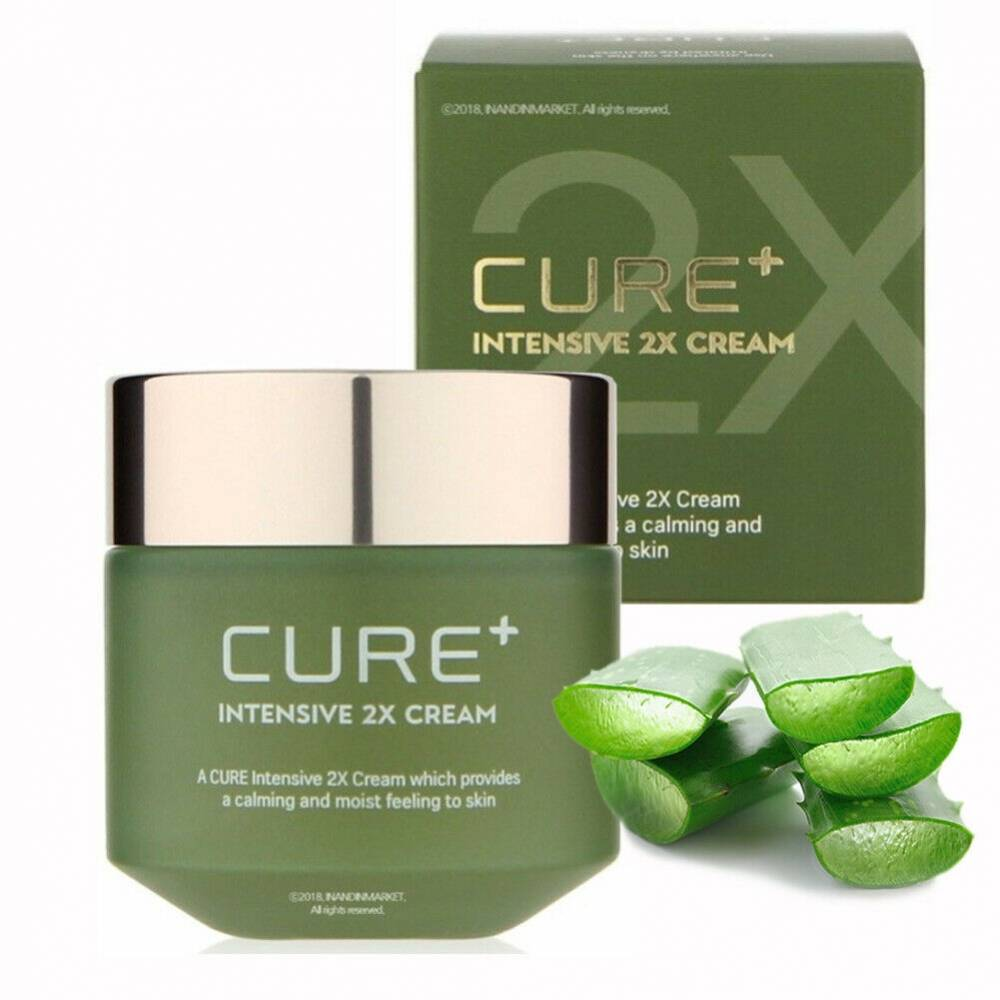 Крем успокаивающий с экстрактом алоэ Kim Jeong Moon Aloe Cure Plus Intensive 2X Cream 50g 2 - Фото 2