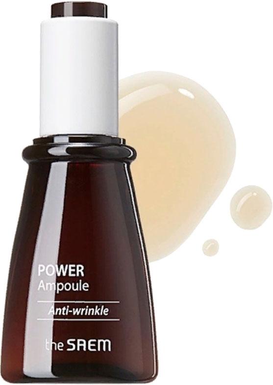 Ампульная эссенция  антивозрастная c экстрактом соевых бобов The Saem Power Ampoule Anti-wrinkle 35ml 2 - Фото 2