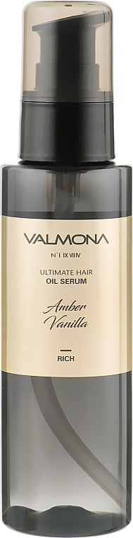 Сыворотка для волос с ароматом ванили Evas Valmona Ultimate Hair Oil Serum Amber Vanilla 100ml 2 - Фото 2