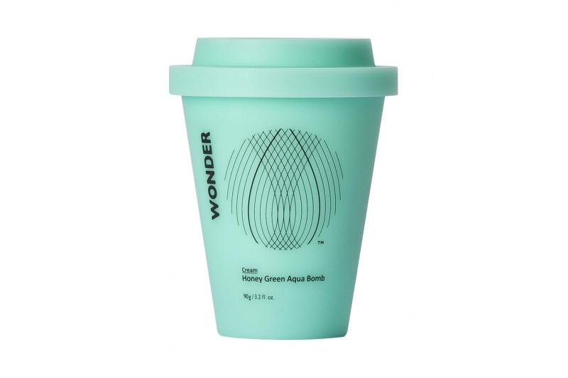 Крем тонизирующий с экстрактом зеленого чая Haruharu Wonder Honey Green Aqua Bomb Cream 90g 2 - Фото 2
