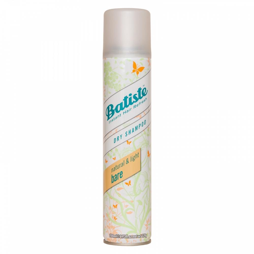 Шампунь сухой бессульфатный для волос Batiste Dry Shampoo Natural & Light Bare 200ml  0 - Фото 1