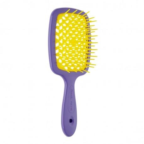 Расческа для волос фиолетовая с желтым Janeke Superbrush 0 - Фото 1