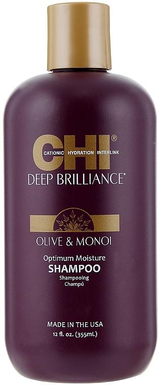 Шампунь для поврежденных волос CHI Deep Brilliance Optimum Moisture Shampoo 355ml 0 - Фото 1