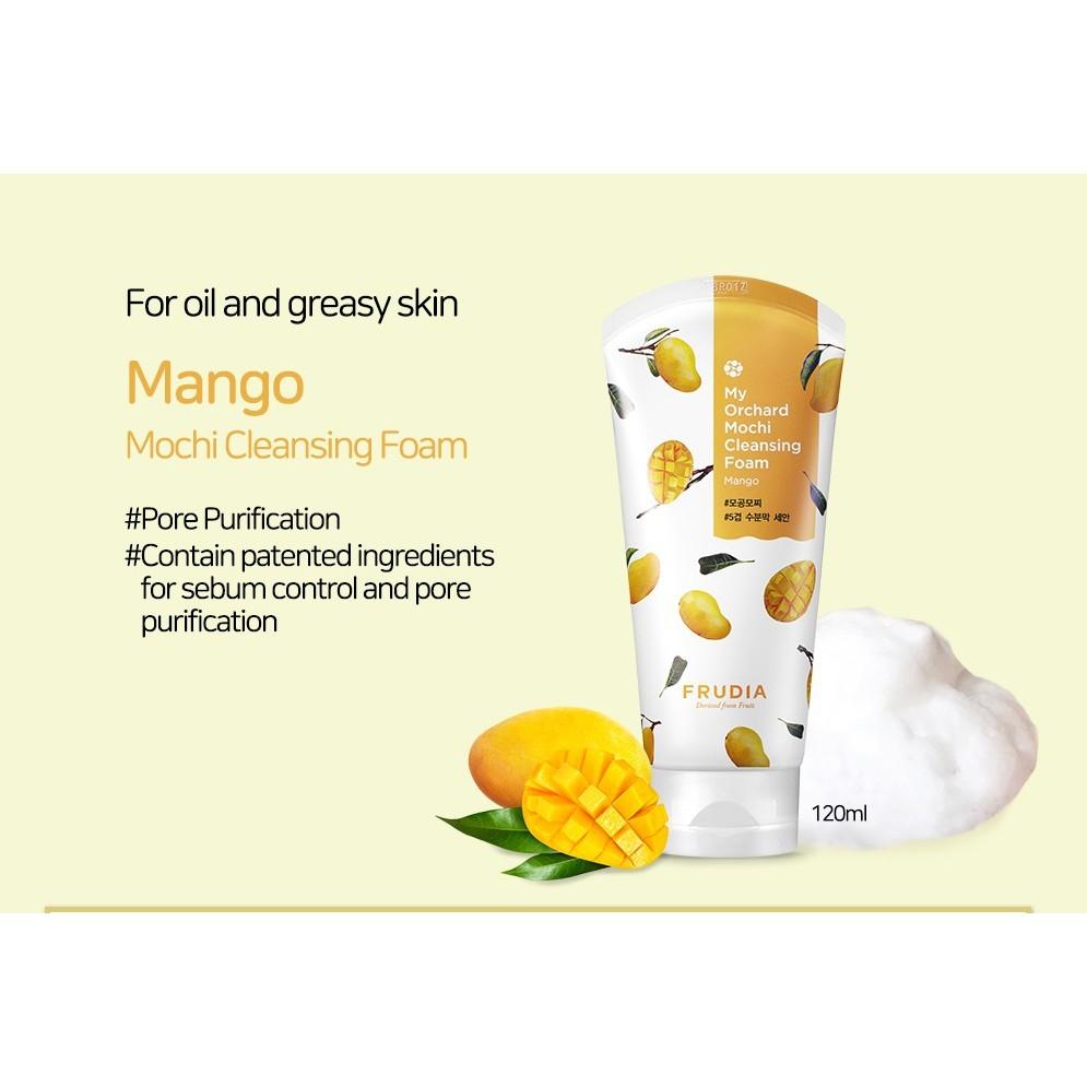 Пена для умывания увлажняющая с экстрактом манго Frudia My Orchard Mango Cleansing Foam 120ml 1 - Фото 2