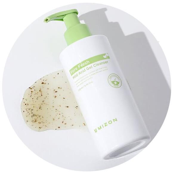 Гель для эффективного умывания успокаивающий с розмарином Mizon Pore Fresh Mild Acid Gel Cleanser 200ml 0 - Фото 1